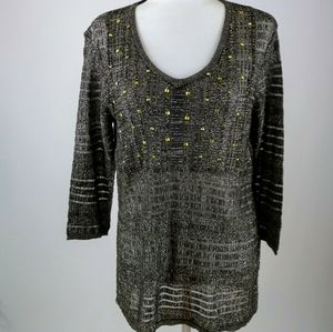 Peck & Peck Sparkling metallic look sweater large